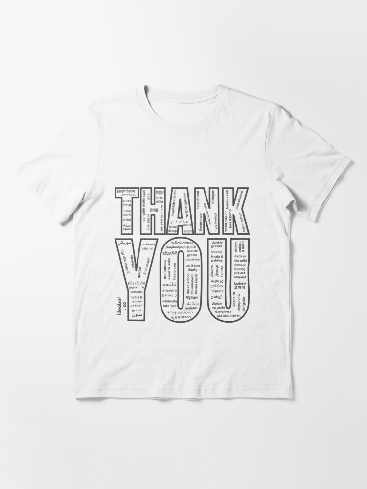 Alternate view of THANK YOU in All 104 Languages in one place Essential T-Shirt