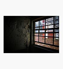 peeling paint and a window Photographic Print