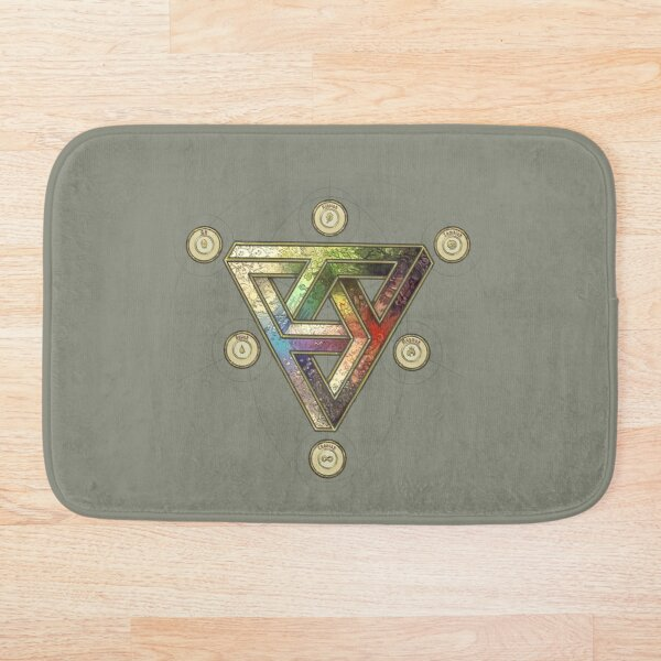 The Impossible Triangle (magic system) - Pepper&Carrot offficial Bath Mat