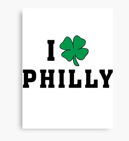 I Love (Shamrock) Philly Canvas Print