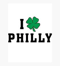 I Love (Shamrock) Philly Photographic Print