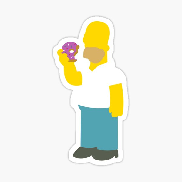 Homer from the Simpsons Sticker