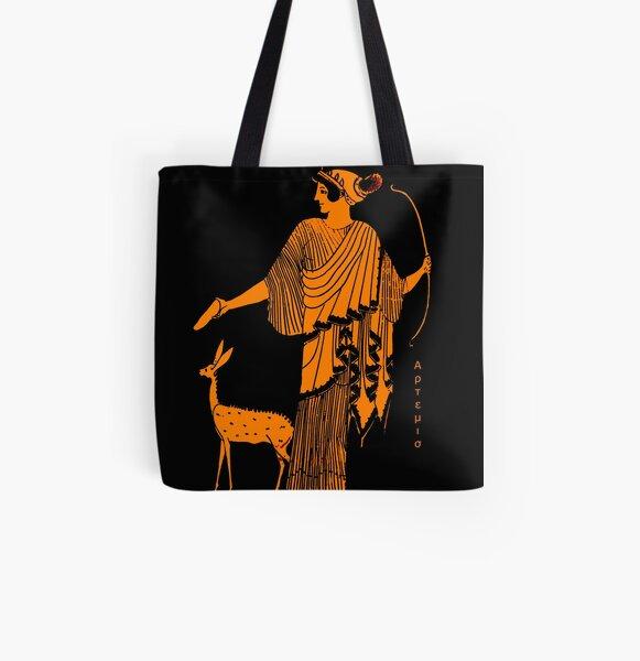 Artemis red figure ancient Greek design All Over Print Tote Bag