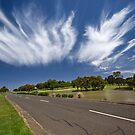 Clouds over the road by Akif  Kaynak