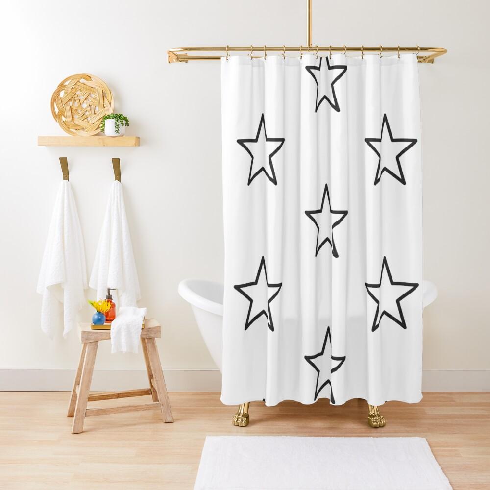 Star shape Shower Curtain