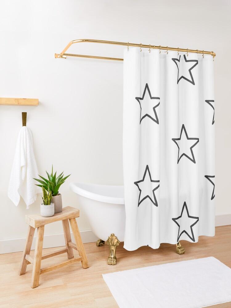 Alternate view of Star shape Shower Curtain