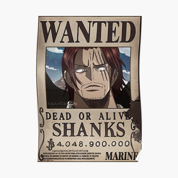 Wanted Shanks Poster