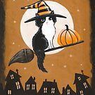 The Little Black and White Witch Cat by Ryan Conners