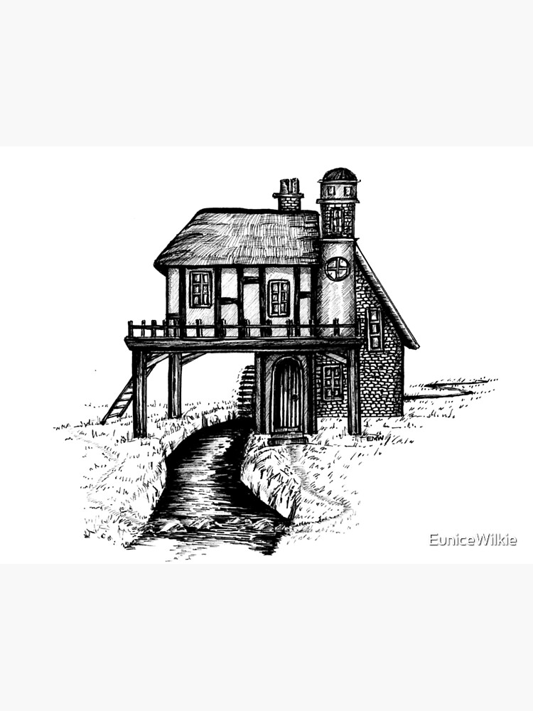 House with a View - Wall Art by EuniceWilkie