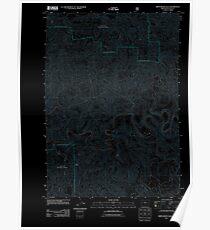 USGS Topo Map Oregon Smith River Falls 20110811 TM Inverted Poster