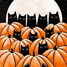 Black Cats in the Pumpkin Patch by Ryan Conners