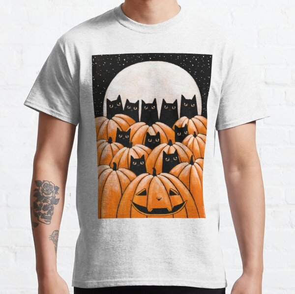 Black Cats in the Pumpkin Patch Classic T-Shirt