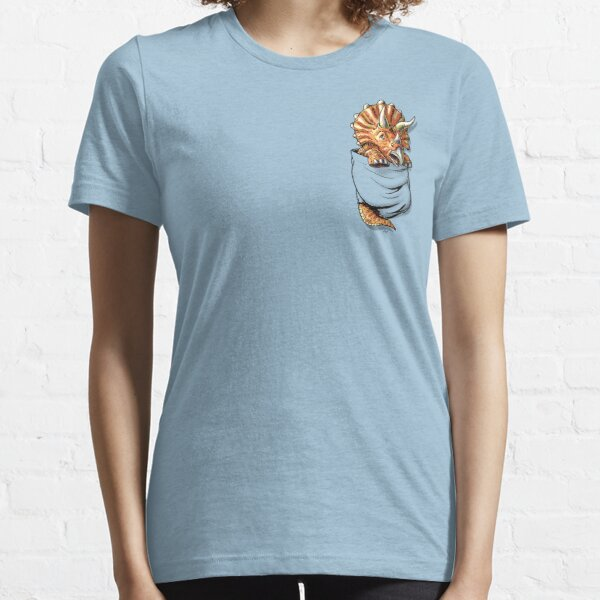 Pocket Triceratops Dinosaur Pet Essential T-Shirt