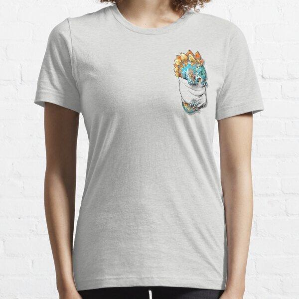 Pocket Stegosaurus Dinosaur Pet Essential T-Shirt