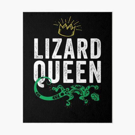 Lizard Queen Art Board Print