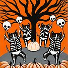 The Skellie Cats Celebration of Halloween by Ryan Conners