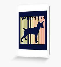 Funny Cute Rat Terrier Greeting Card