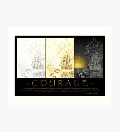 courage (tri-panel) Art Print