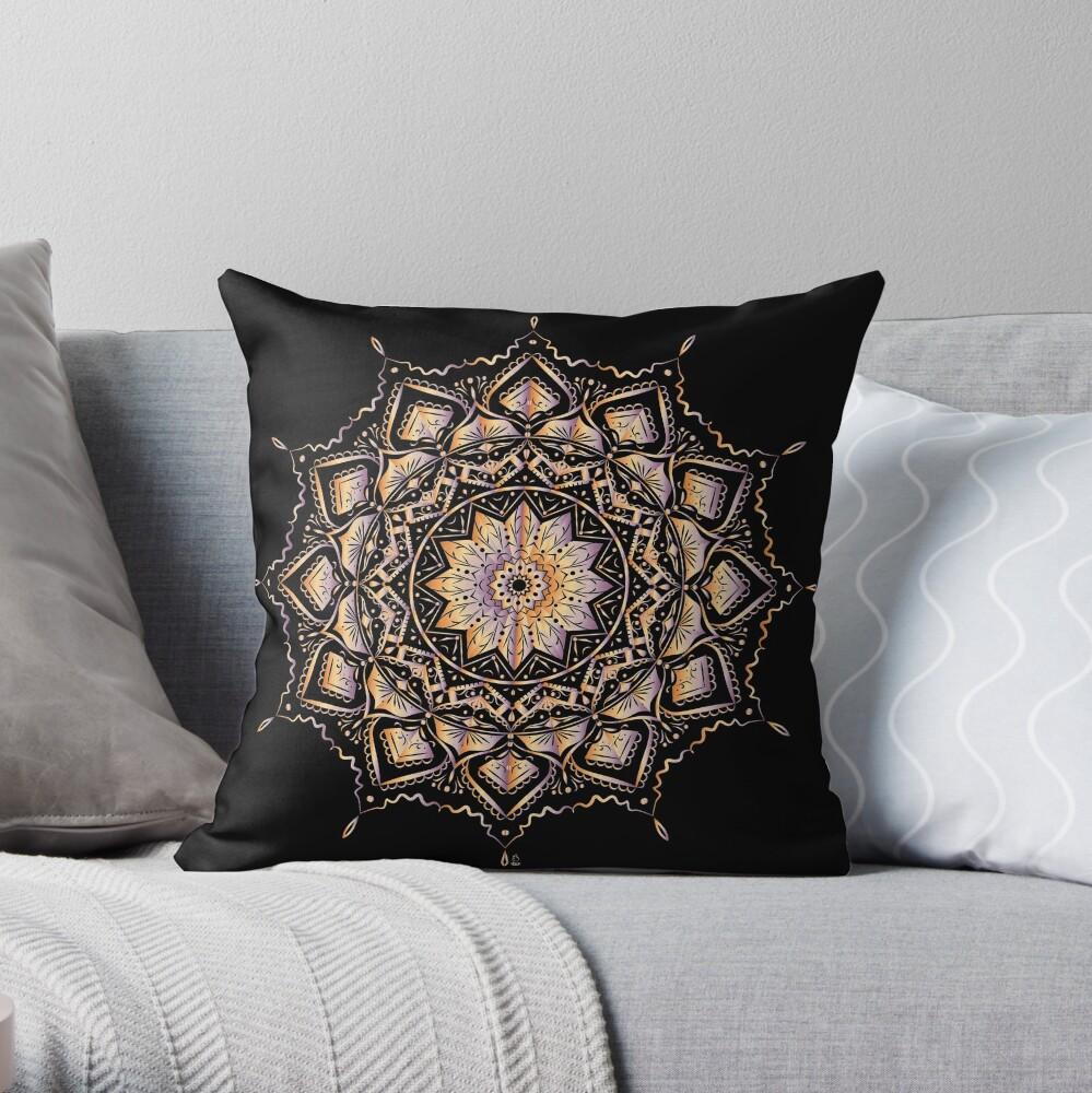 Etnic mandala Throw Pillow