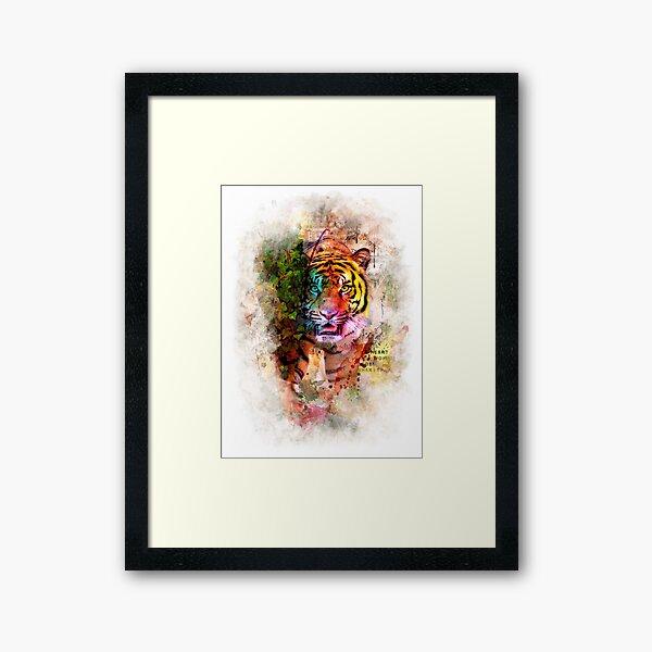 Tiger Jungle Framed Art Print