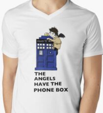 Castiel Has The Phone Box Men's V-Neck T-Shirt