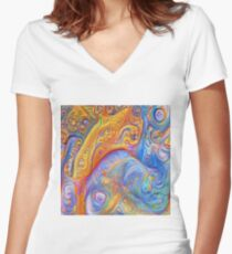 Abstraction #A Fitted V-Neck T-Shirt