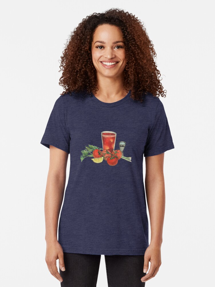 Alternate view of bloody mary recipe Tri-blend T-Shirt