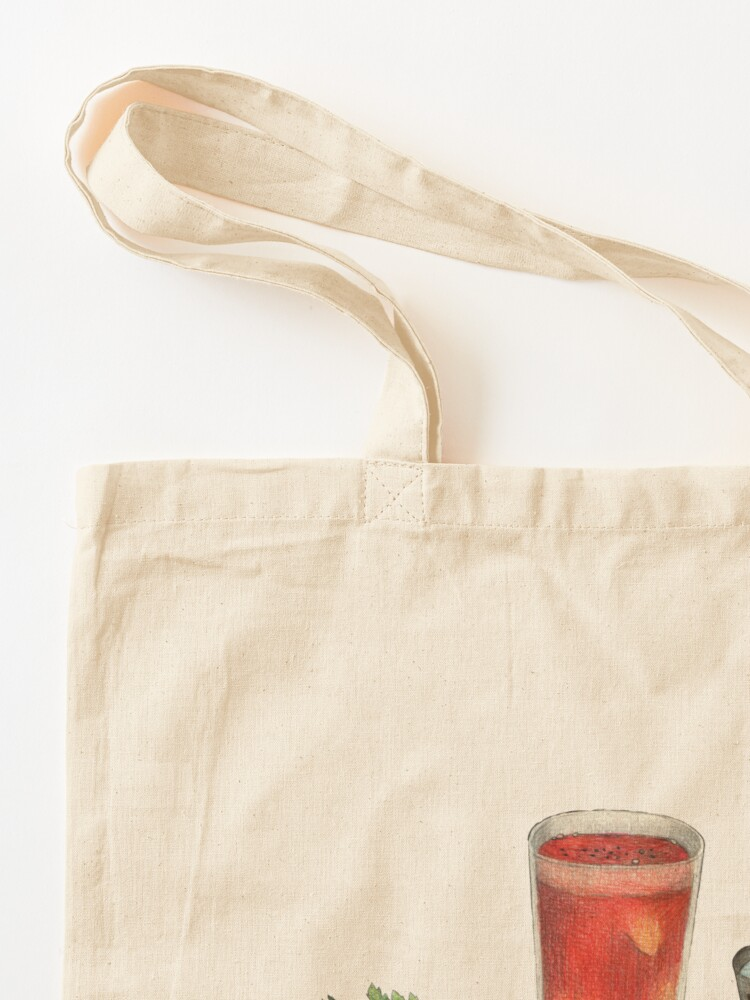 Alternate view of bloody mary recipe Tote Bag