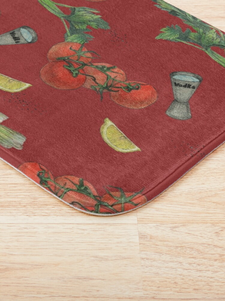 Alternate view of bloody mary recipe Bath Mat