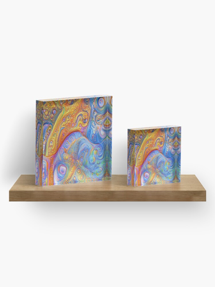 Alternate view of Abstraction #A Acrylic Block