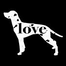 Dalmatian Dog Love - A Minimalist Distressed Vintage Style Design for Dog Lovers by traciwithani