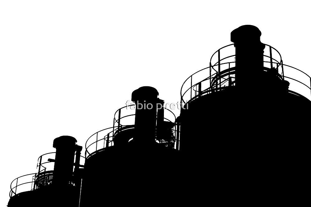 silos siluette by fabio piretti