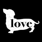 Dachshund / Weiner Dog Love - A Minimalist Distressed Vintage Style Design for Dog Lovers by traciwithani