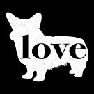 Welsh Corgi Dog Love - A Minimalist Distressed Vintage Style Design for Dog Lovers by traciwithani