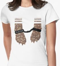 Slaves Cuffed Fox Paws Womens Fitted T-Shirt