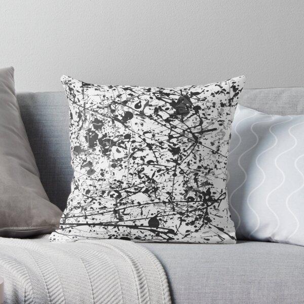 Mijumi Pollock Black and White Throw Pillow