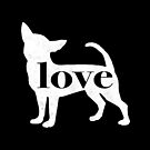 Chihuahua Dog Love - A Minimalist Distressed Vintage Style Design for Dog Lovers by traciwithani