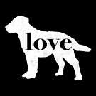 Chesapeake Bay Retriever Dog Love - A Minimalist Distressed Vintage Style Design for Dog Lovers by traciwithani
