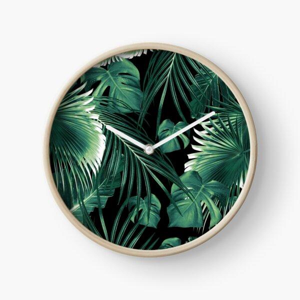 Tropical Jungle Leaves Dream #6 #tropical #decor #art Clock