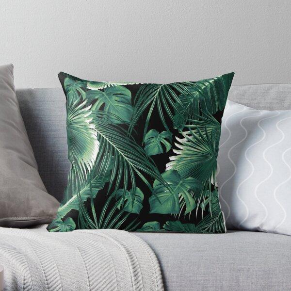 Tropical Jungle Leaves Dream #6 #tropical #decor #art Throw Pillow