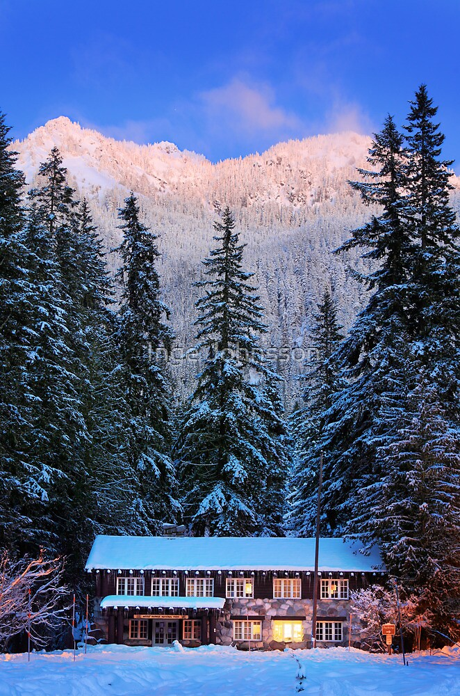 Mount Rainier winter evening by Inge Johnsson