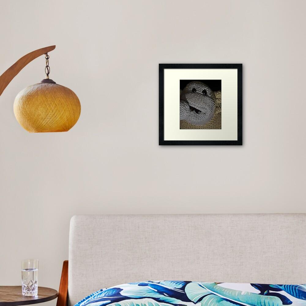 Monkey Coffee Framed Art Print