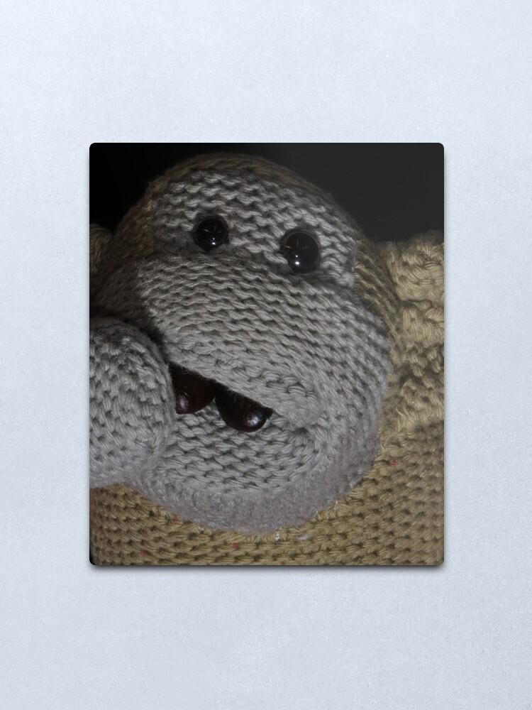 Alternate view of Monkey Coffee Metal Print