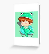 baby frog Greeting Card