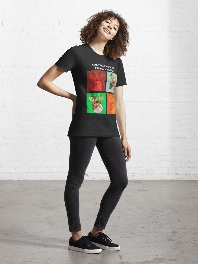 Alternate view of Kebap: Kunst eins in die Fresse Kriegen Essential T-Shirt