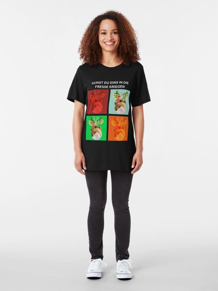 Alternate view of Kebap: Kunst eins in die Fresse Kriegen Slim Fit T-Shirt
