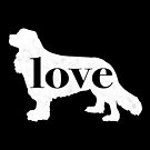 Cavalier King Charles Spaniel Dog Love - A Minimalist Distressed Vintage Style Design for Dog Lovers by traciwithani