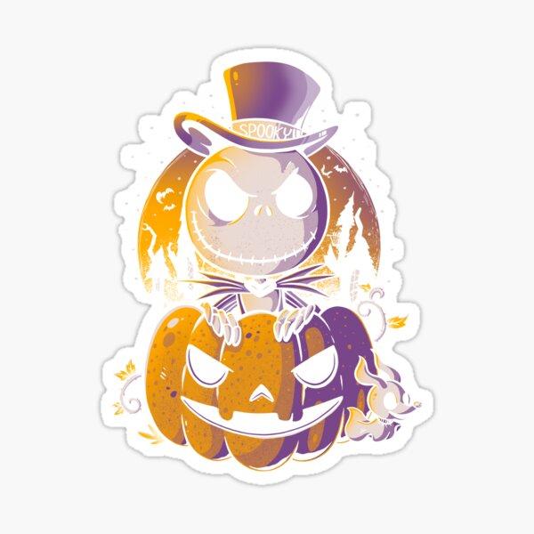 Spooky Jack Scary Pumpkin Halloween Sticker
