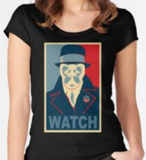 Who is Watching? Women's Fitted Scoop T-Shirt
