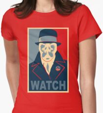 Who is Watching? Womens Fitted T-Shirt
